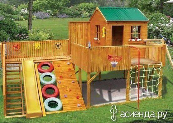 Игровая площадка для детей на даче фото