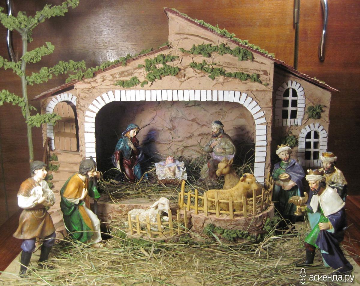 Рождественски вертеп своими руками