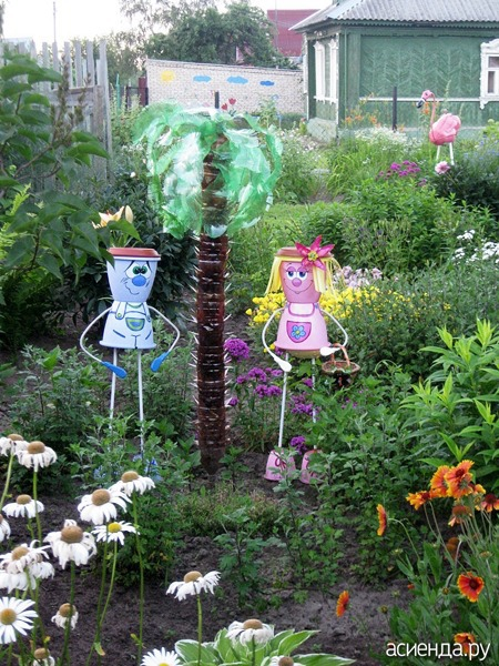 Поделки из пластиковых ведерок для сада и огорода фото и описание 39