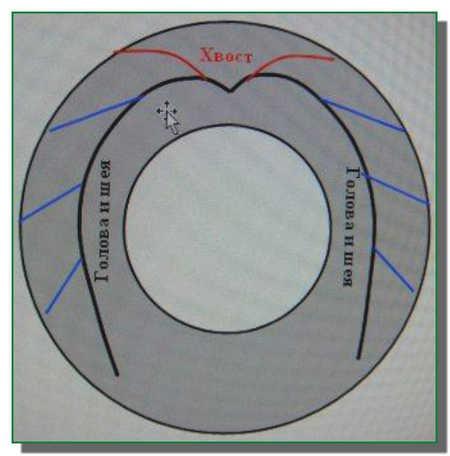 Как сделать лебедя из колеса схема