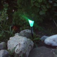 Разноцветные фонарики для сада