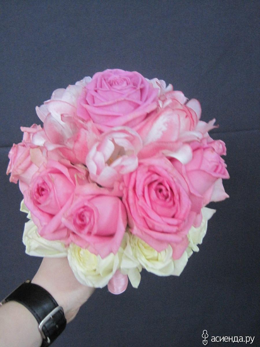 Свадебный букет своими руками из пионовидных роз с собственными стеблями 83