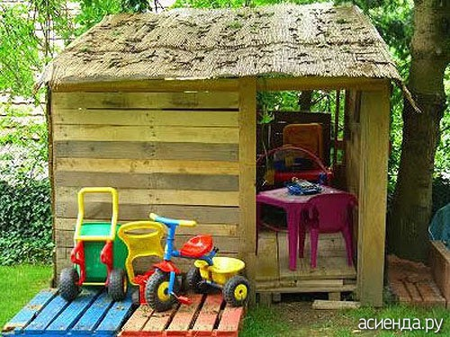 Сделать детский домик своими руками из поддонов
