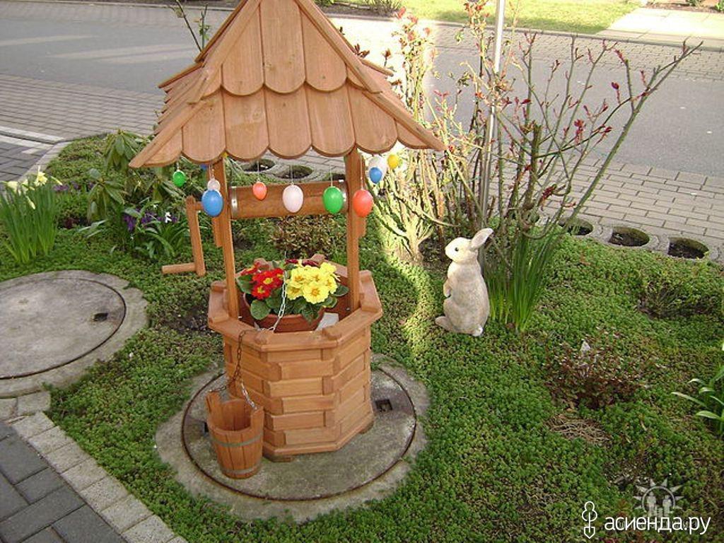 Декоративные поделки из дерева для сада своими руками фото