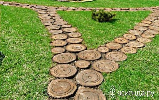 Садовые дорожки из спилов
