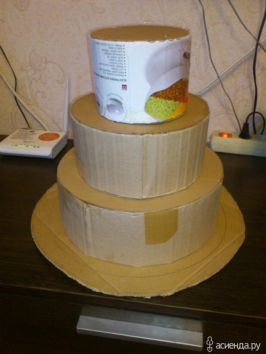 Как сделать торт из картона и конфет