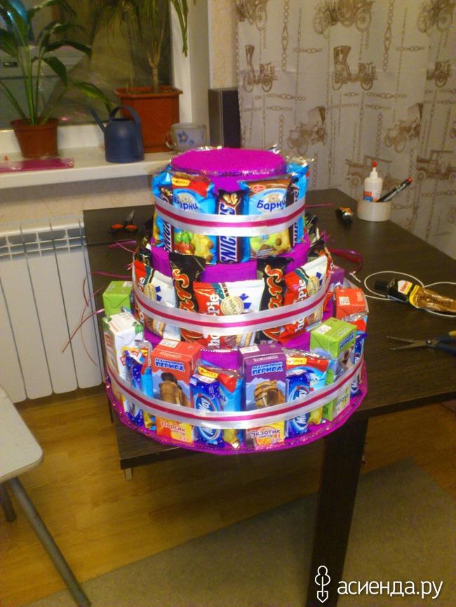 Торт из коробок подарок
