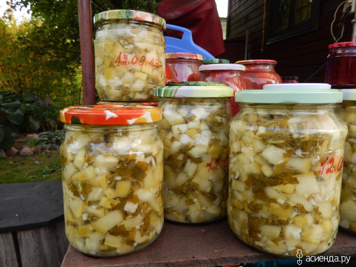 Кабачки с чесноком и майонезом на зиму рецепт