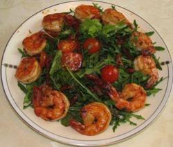 Салат с креветками жареными рецепт с очень вкусный с