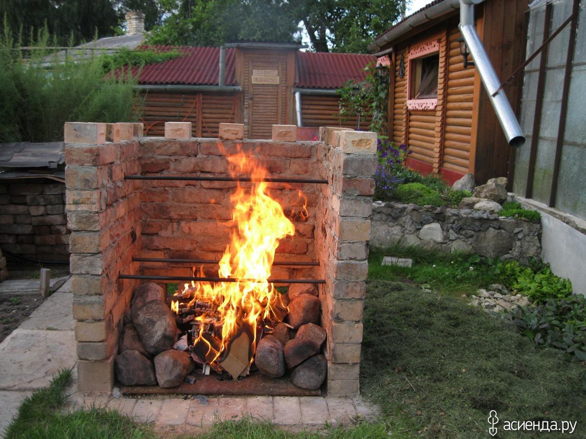 Кирпичная печь для сжигания мусора на даче своими руками 65