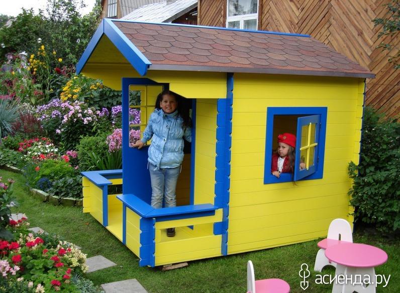 Детские домики своими руками на дачу фото