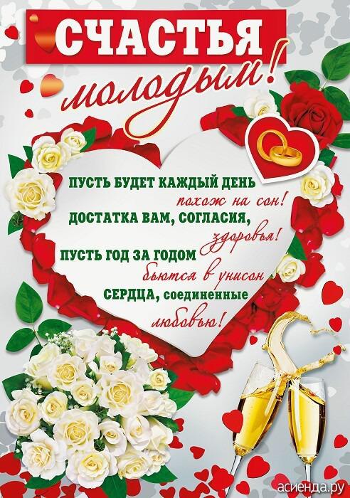Поздравления на свадьбу молодоженов