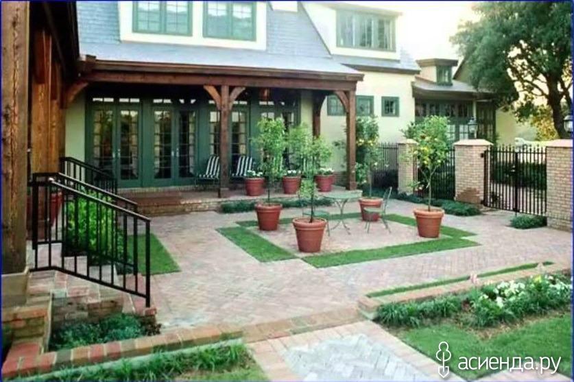 Красивые частные дворы