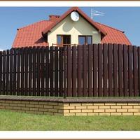 Делаем забор из металлического штакетника