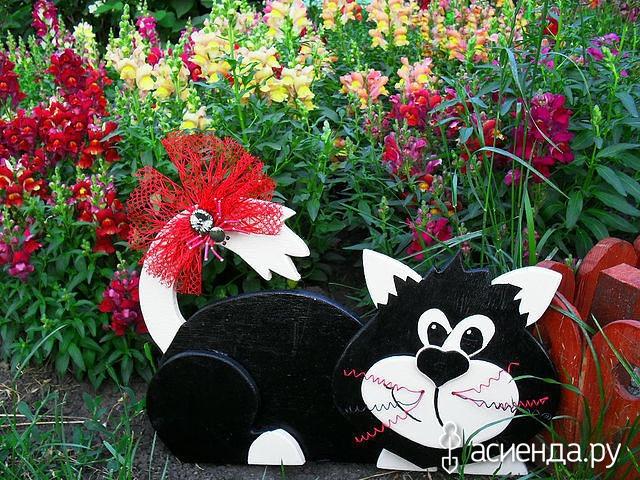 Коты в саду своими руками