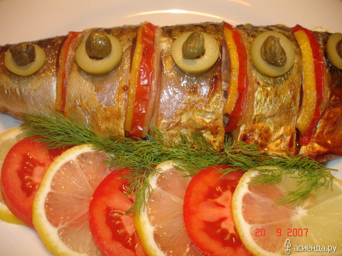 Рыба с лимоном запеченная в фольге в духовке рецепт с пошагово