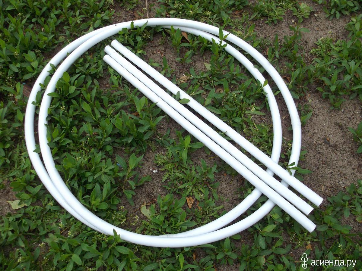 Опора для кустов из пластиковых труб