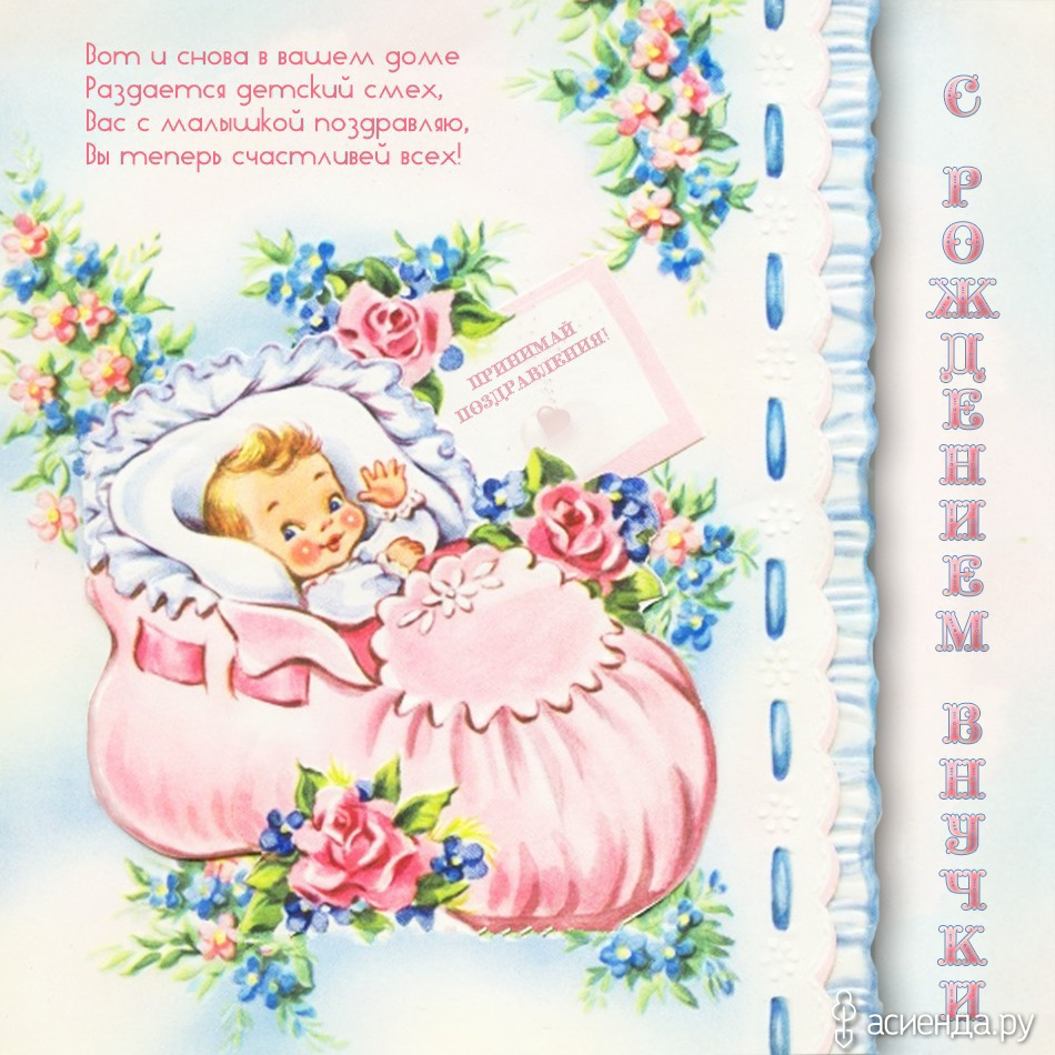 Прикольные поздравления с новорожденной внучкой бабушке
