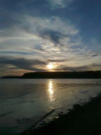 Белое море... закат..
