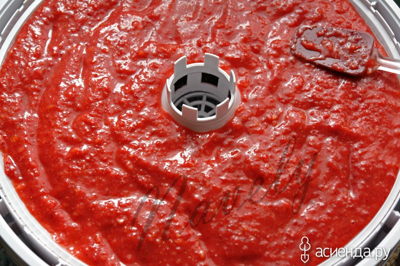 пастила из томатов в сушилке рецепт