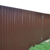 Наш забор из профнастила