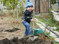 Дети и работа на даче.