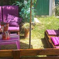 Мебель для дачи из деревянных поддонов (паллетов)