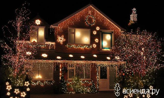 Делаем новогоднее освещение в загородном доме