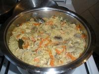 Рис с белыми грибами.