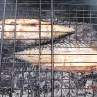 Рыба на решетке.