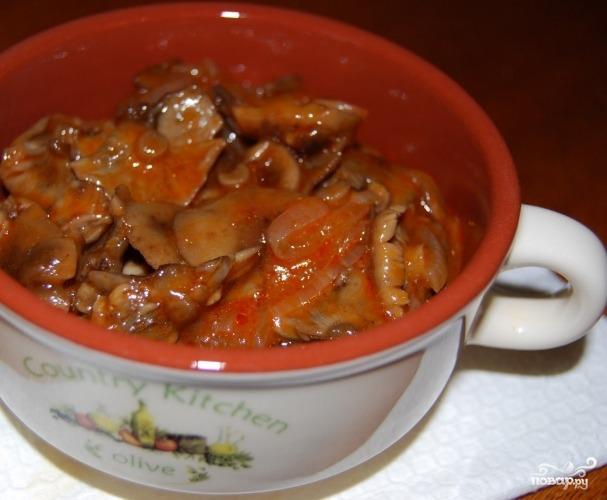грибы томатном соусе рецепт с фото
