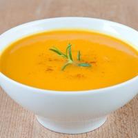 Суп-пюре из тыквы с ветчинкой