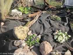 Использование черного спанбонда в саду и огороде