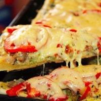 Пицца овощная.