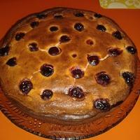 Любимый пирог сына, с творогом и вишней.