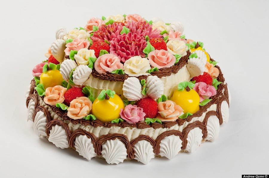 Сделать, с днем рождения торт цветы открытка