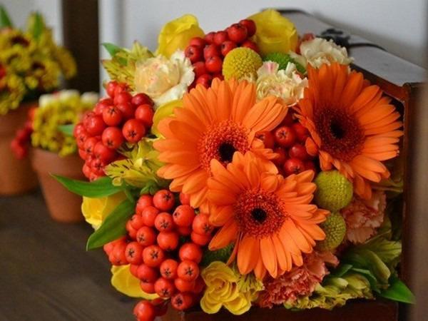 Осенняя икебана своими руками фото 989