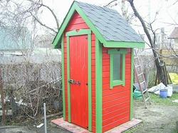Деревянный туалет для дачи своими руками. Ч. 2