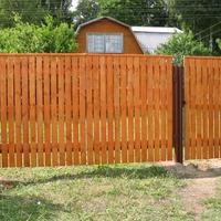 Забор на даче своими руками