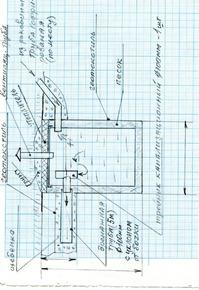 Септик из бочки для летнего дома чертеж дополнение