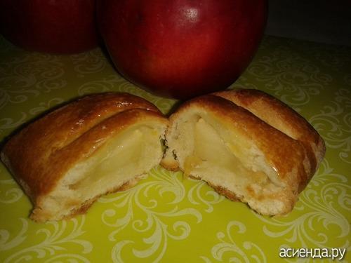 Творожные конвертики с яблоком рецепт фото