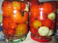 Рецептик консервирования помидорок в яблочном уксусе. Давно обещала...
