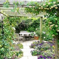 Плоскость над головой в садовом дизайне