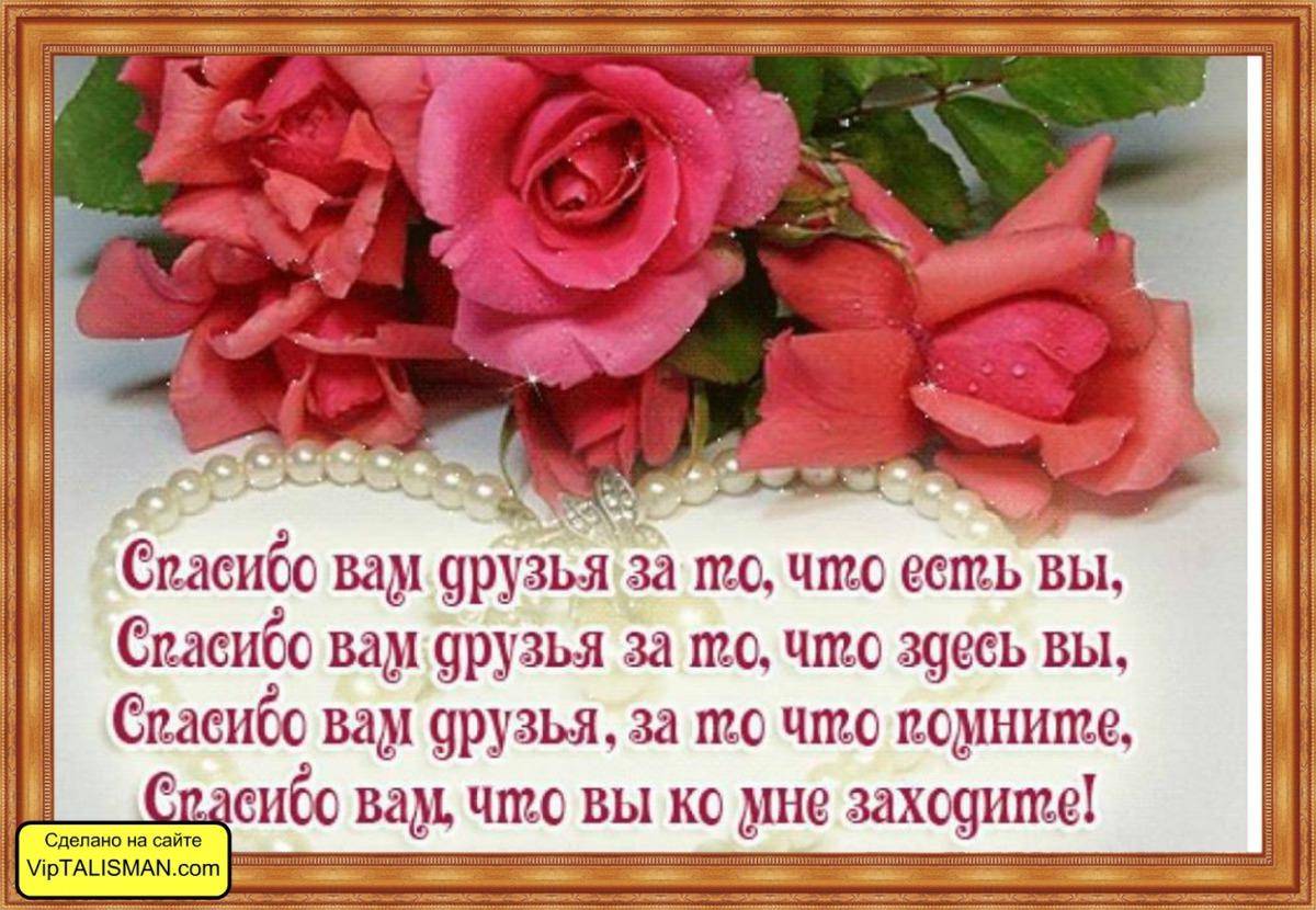 Спасибо друзья за поздравления в стихах друзьям