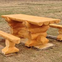 Делаем стол из бревен для беседки