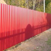 Забор из профнастила. Лицевая и изнаночная сторона. ОПРОС
