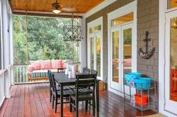 Пристроенная к дому терраса - красиво и практично