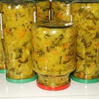 Сборка овощей на индийский маринад в этом году.