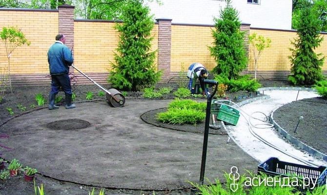Выравнивание дачного участка под огород и газон