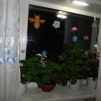 Цветущее окно (с подсветкой)